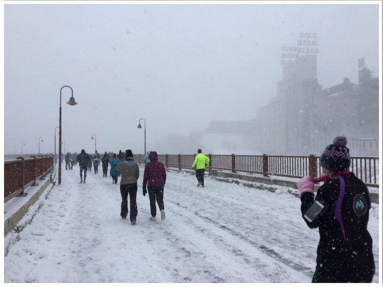 Hot Chocolate Run Minneapolis Snow