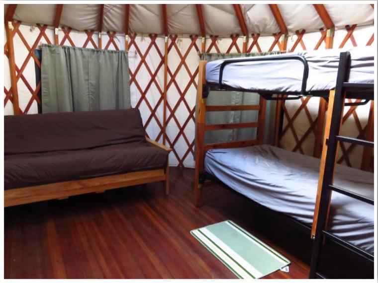 Clear Lake Yurt Inside