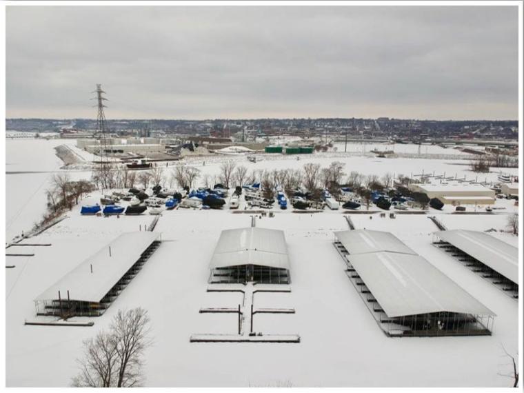 Dubuque Iowa Winter Drone