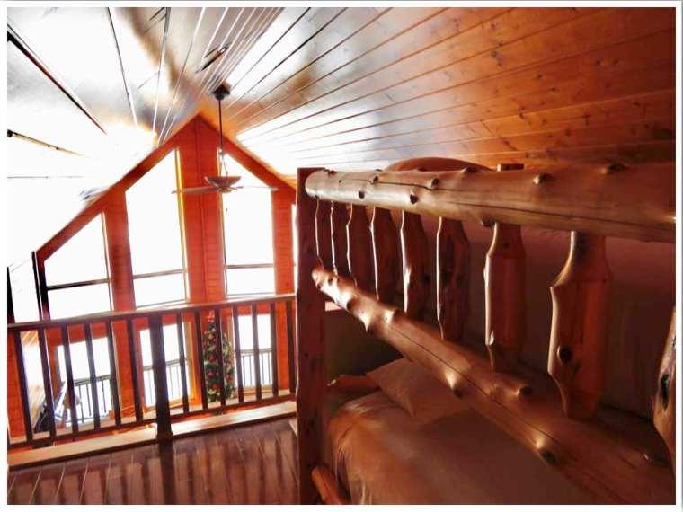 Red Cedar Lodge Iowa cabin loft