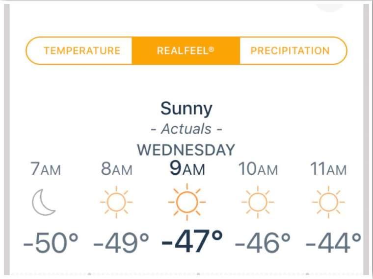 Polar Vortex 2019 Iowa Temperatures