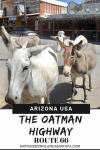 Driving the Sitgreaves Pass in Arizona USA. The Sitgreaves Pass through Oatman is a great stretch of road along Route 66 in Arizona!