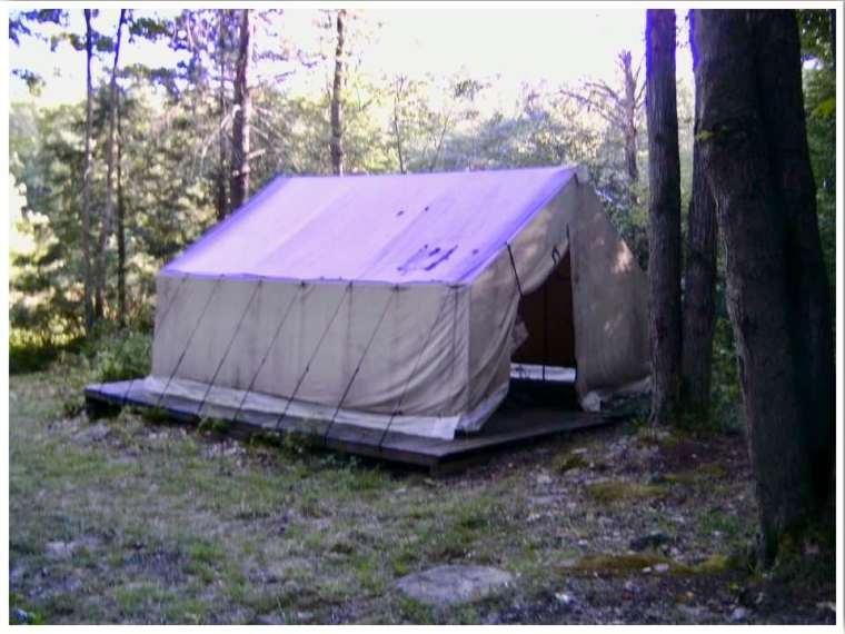 Camping overnight Camp America