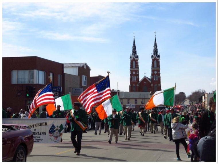 Highway 20 Iowa Dyersville St Patricks Day Parade