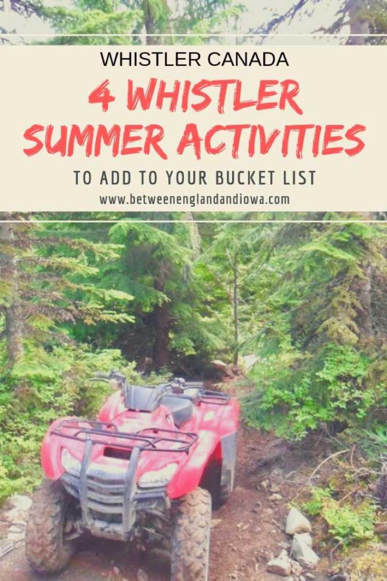 4 adventurous Whistler summer activities to add to your Canadian bucket list!