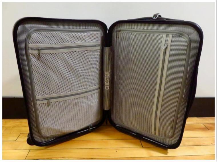 Chester Travel Suitcase Interior