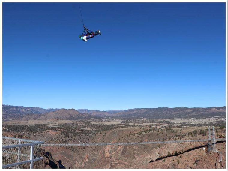 Royal Gorge Skycoaster Swing at Royal Gorge Bridge Park in Colorado