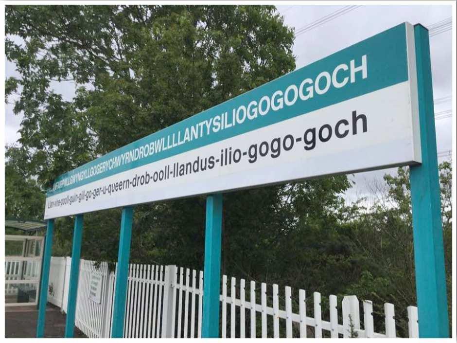 Llanfairpwllgwyngyllgogerychwyrndrobwllllantysiliogogogoch Train Station in Wales