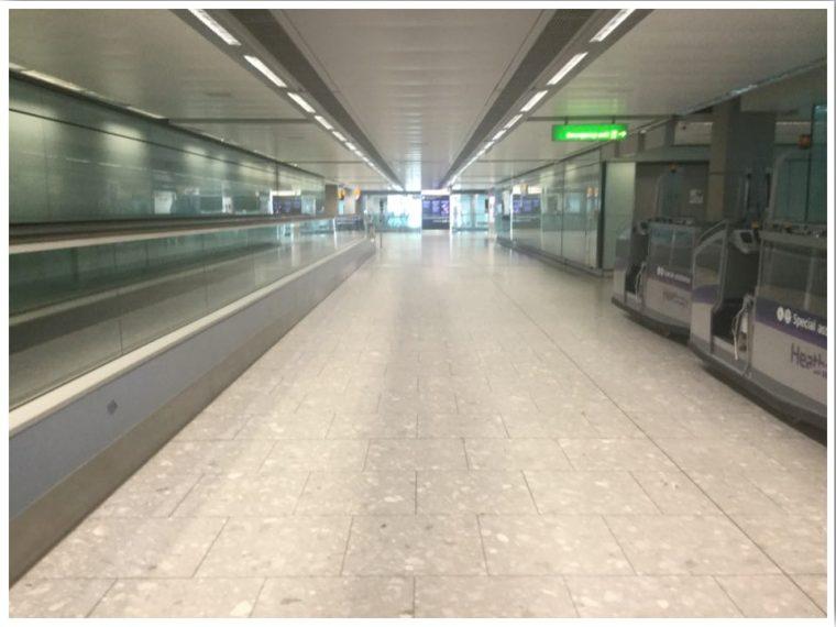 London Heathrow T5 Arrivals June 2020