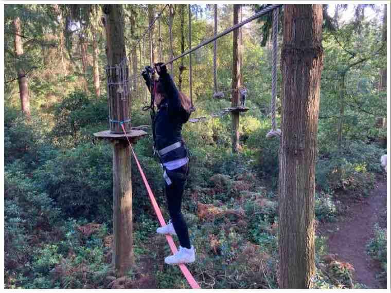 Go Ape Slack Line Obstacle Thetford Forest