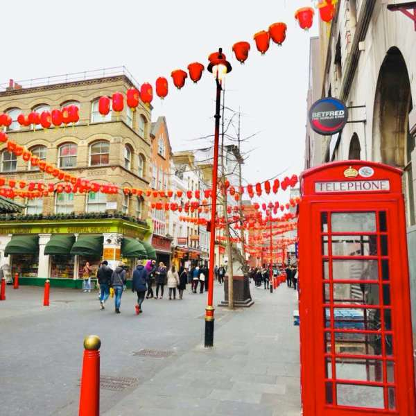 London China Town with Red Phone Box