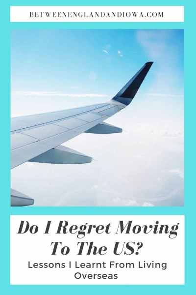 Do I Regret Moving To The US (plane wing with blue sky flying over clouds)