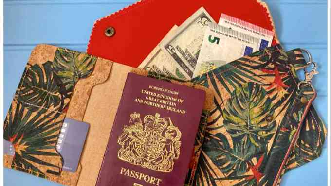 cork passport cover and wallet