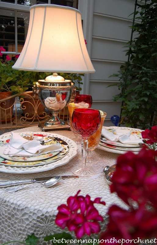 Romantic Table Setting For Two Perfect For Valentines Day
