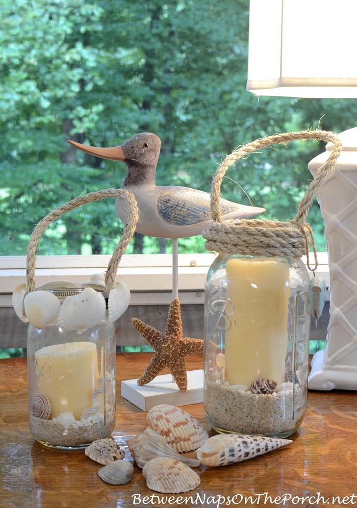 Mason Jar Crafts Hyannis Candle Lantern