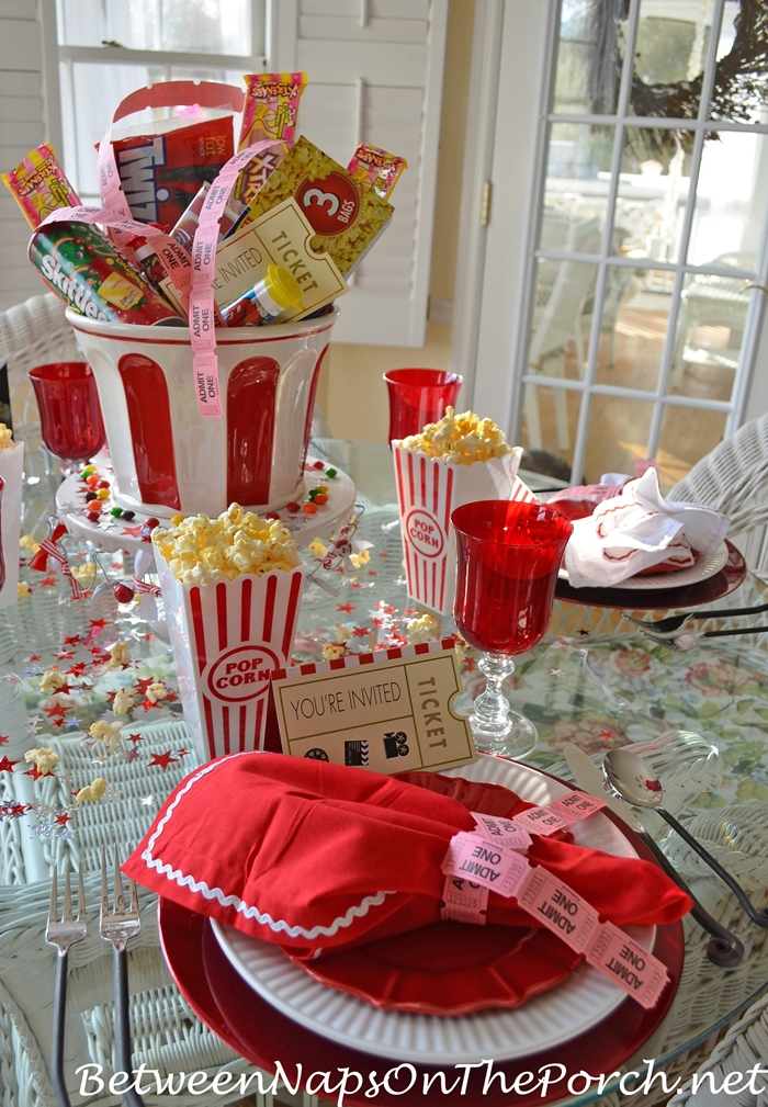 Childrens Party Table For Movie Night