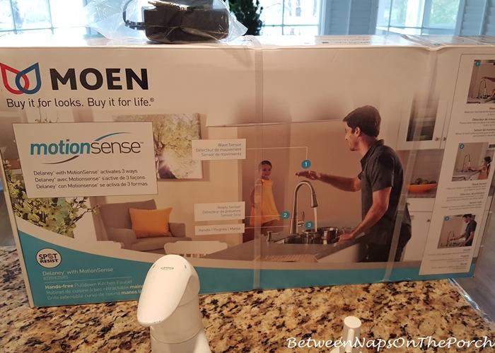 a moen motionsense faucet and soap