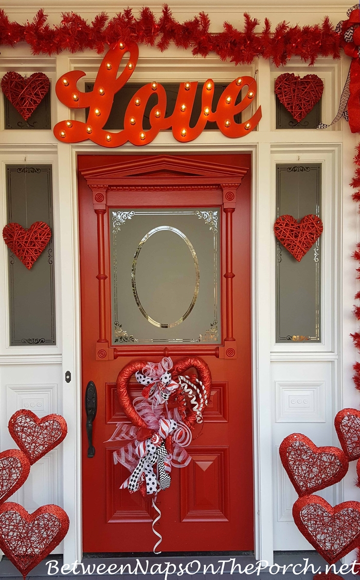 Valentines Day Decorations Decorate The Porch Front