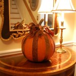 Decorate Your Pumpkin With Ribbon For Halloween Between