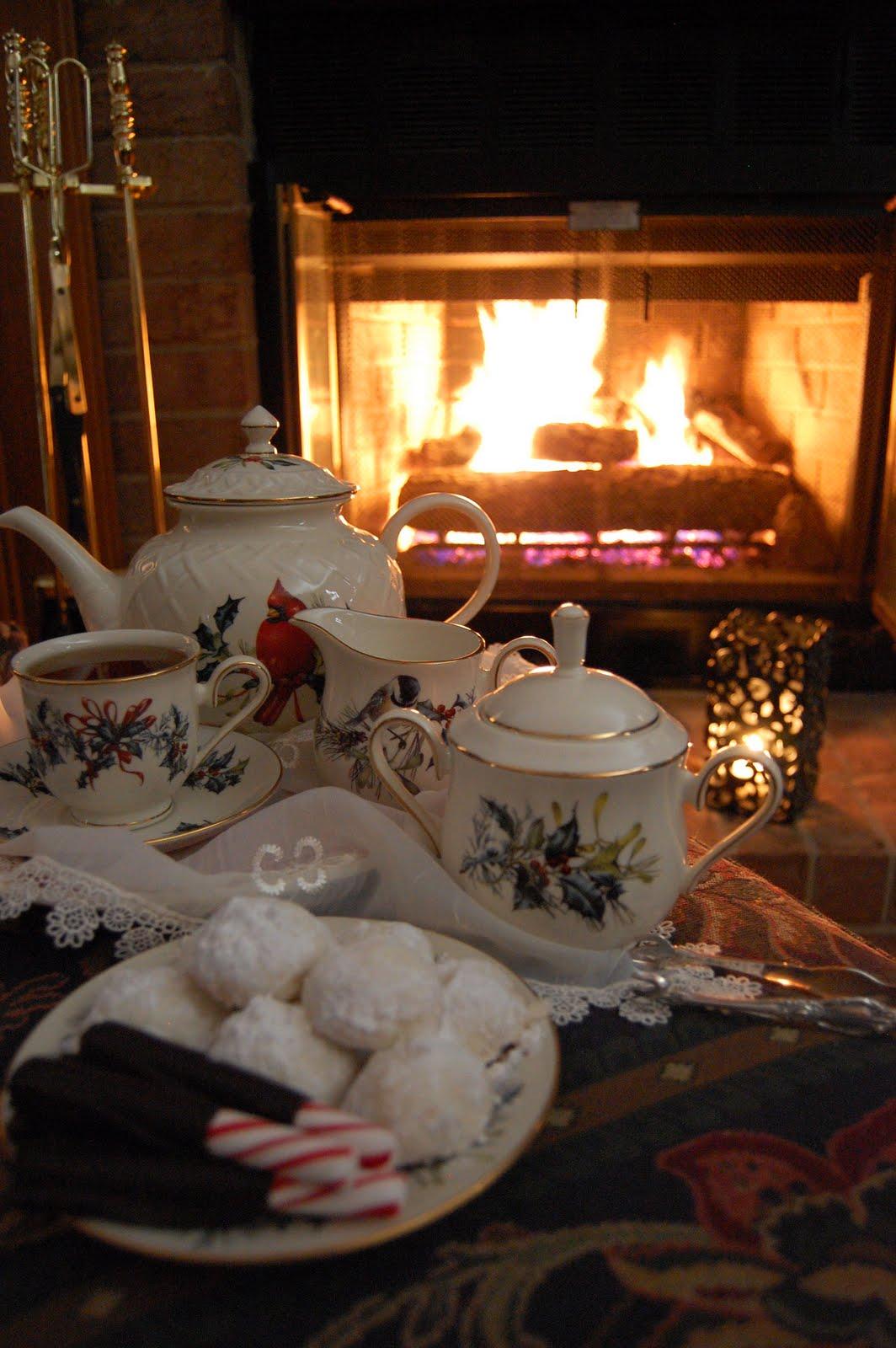 Cozy Fireside Tea