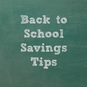 More back to school savings tips