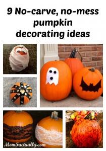 9 No-carve, no-mess ways to decorate pumpkins