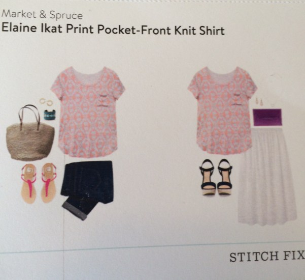 Elaine Ikat Print Pocket-Front Knit Shirt Stitch Fix