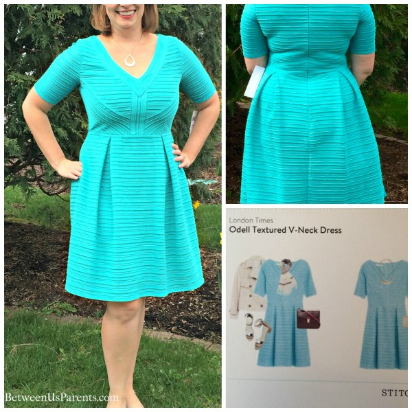 Odell Textured V-neck dress