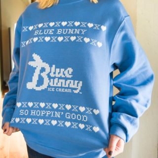 Blue Bunny Ugly Christmas Sweater and Ice Cream Giveaway