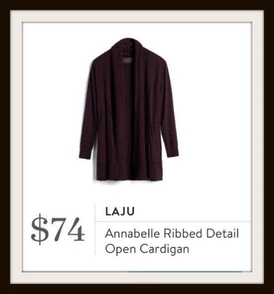 Annabelle Ribbed Detail Open Cardigan from Stitch Fix