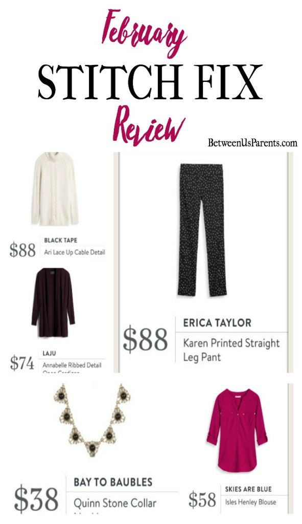 February Stitch Fix Review See what my stylist sent, and whether I kept the right items or not.