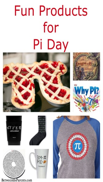 Fun products for celebrating Pi Day, from socks to pie pans to shower benches