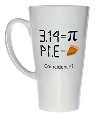 Pi Pie Mug, perfect for Pi Day fun and festivities