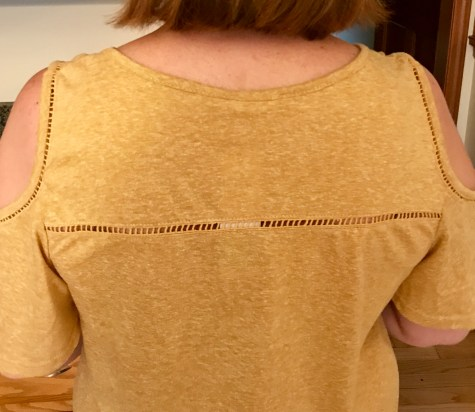 Love the detail on the back of Le Lis Cold Shoulder Top from Stitch Fix