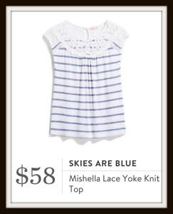 Skies are Blue Mishella Lace Yoke Knit Top