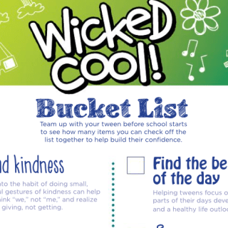 Wicked Cool Bucket List helps build self-esteem in tweens before school starts