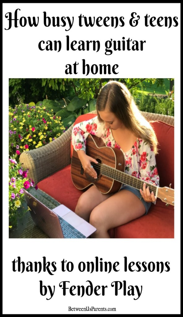 Online guitar lessons from Fender Play make it easy for even busy teens to learn how to play guitar, a skill my grandfather told my daughter she'd use for a lifetime.