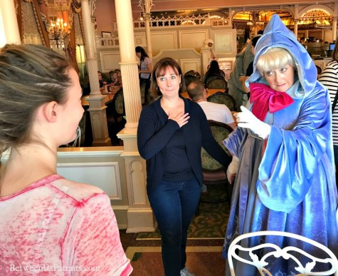 Fairy Godmother at Disneyland Plaza Inn character breakfast