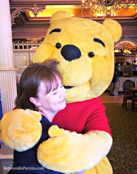 Winnie the Pooh at the Plaza Inn at Disneyland character breakfast