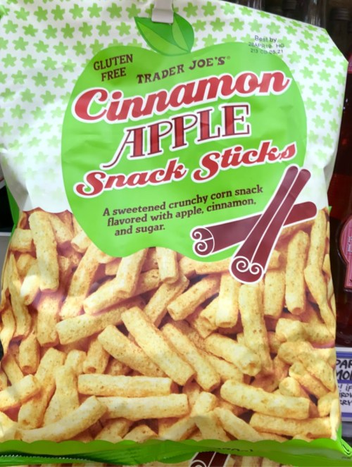Cinnamon apple snack sticks from Trader Joe's