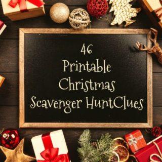 46 Printable Christmas scavenger hunt clues