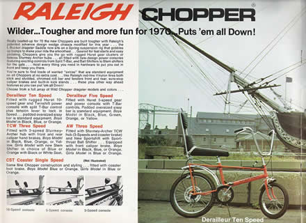 Raleigh Chopper catalogue, 1971