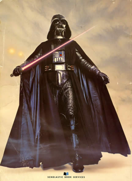 darth vader back cover of the Star Wars storybook