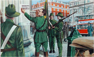 It's said now that Pearse didn't actually read it, but that it was Thomas Clarke