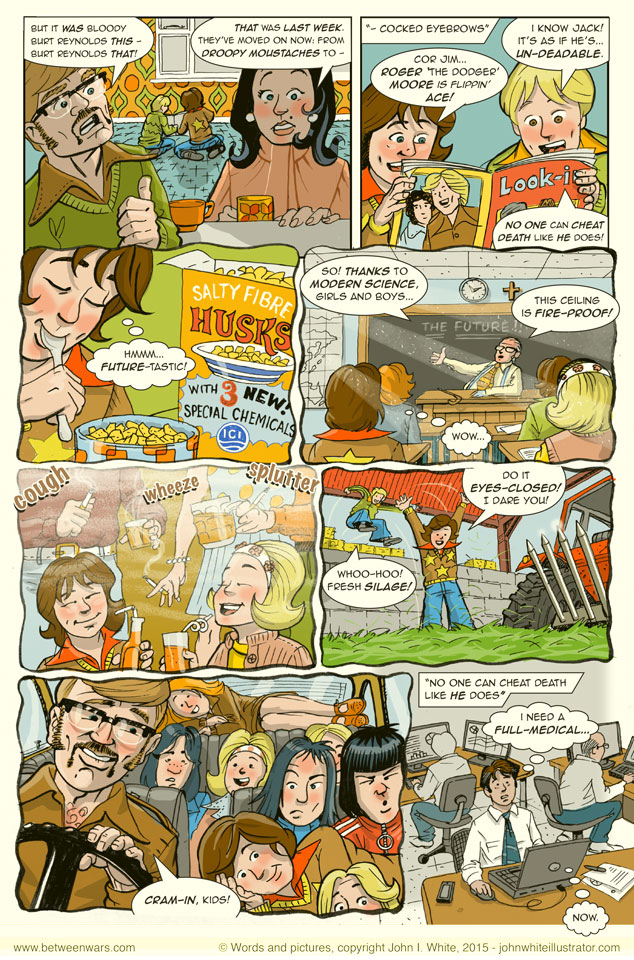 Surviving the very lax health and safety attitudes of the seventies! - 1970s Irish style comic page