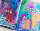 Fairy Tale Mixed Media Page with Rita Barakat and Art Anthology Hop!