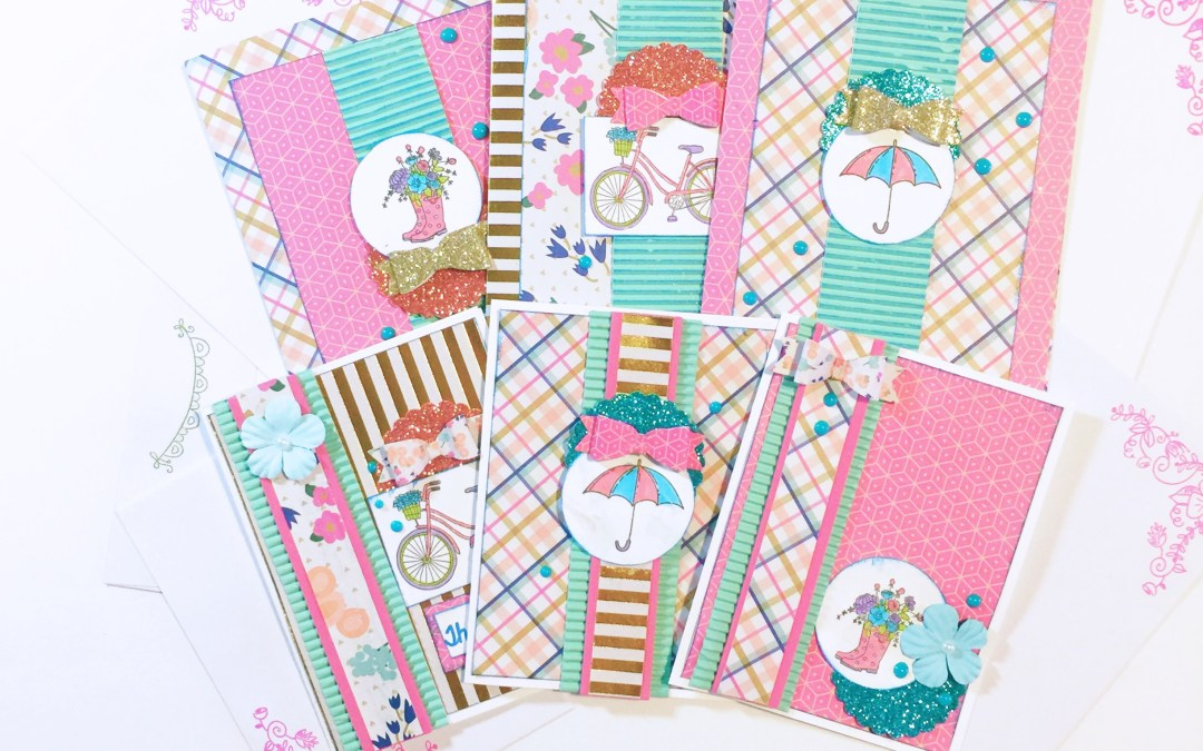 Spring Stroll Cards and Envelopes
