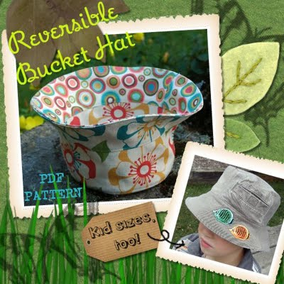 Reversible Bucket Hat Pattern Betz White
