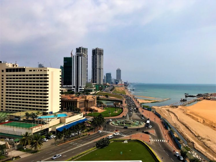 View of Colombo , which is one of the best places to visit in Sri Lanka