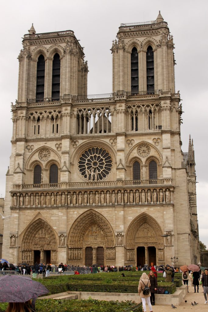 One of the places to visit on our bucket list is Paris, in France. This picture is of Notre Dame before the fire, in Paris France.